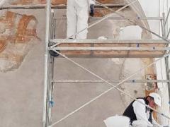 Affresco-Chiosco-Paradiso-Cattedrale-Amalfi-4-Operazione-di-stuccature-3