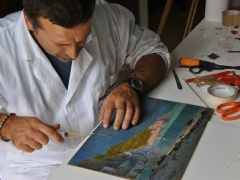 Camera Commercio Salerno 2009 Conservazione Restauro Dipinto Tavola Luigi Paolillo sec XX2
