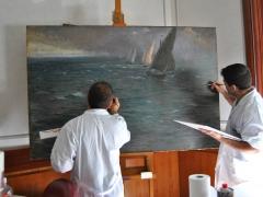 Camera Commercio Salerno 2009 Conservazione Restauro Tela Gaetano Esposito XX14