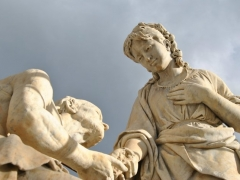 Conservazione e Restauro Statua della Carita3