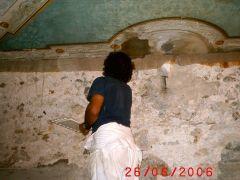Conservazione Restauro Tela Neoclassica Soffitto1